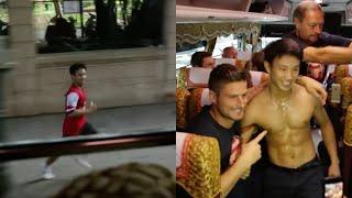 The Running Man - Chàng trai chạy 5km theo xe đội bóng Arsenal