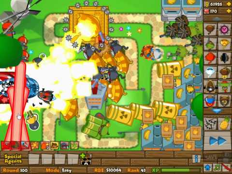 Bloons tower defense 5 round 100 101 youtube