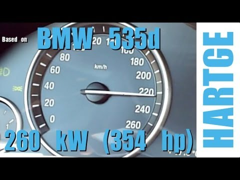 BMW 535d F10 Test Drive with HARTGE Engine Upgrade 80 - 200 km/h