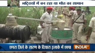 Watch: LIVE raid at alcohol factory despite liqour ban in Bihar
