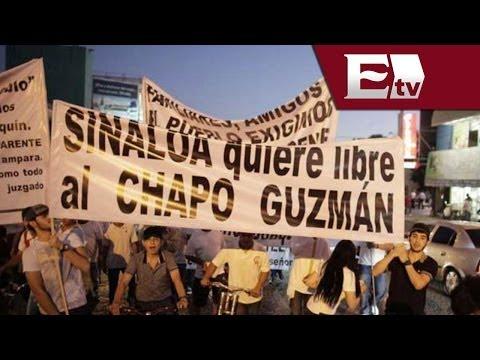 Detienen 40 personas al intentar dispersar marcha a favor de El Chapo en Sinaloa / Andrea Newman