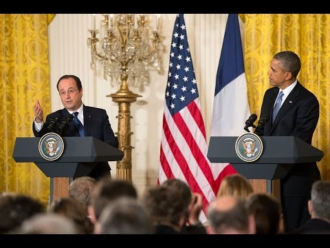President Obama Holds a Press Conference with President Hollande of France