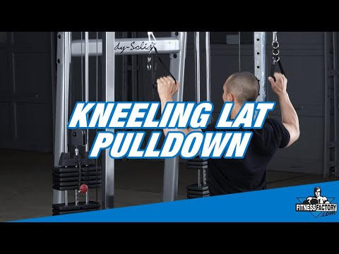 kneeling lat pulldown youtube
