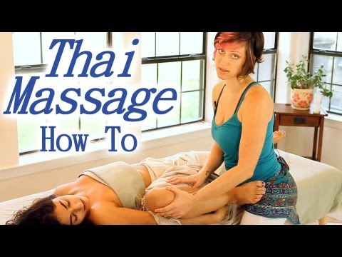Thai Asian Massage Techniques Table Therapy, Body Leg Stretching How To Jen Hilman