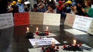 Diyarbakır'da Soma protestosu