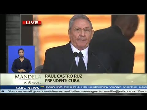 Cuban President Raul Castro's speech at Nelson Mandela Memorial, December 10, 2013