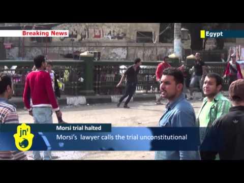 Morsi Trial Adjourned: helicopter takes Egypt's former Islamist president back to Cairo prison