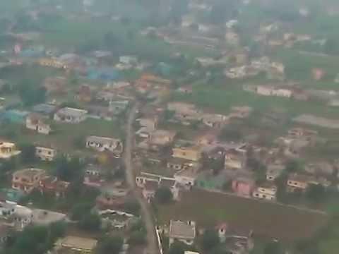 Spicejet Q 400 landing at Dehradun.