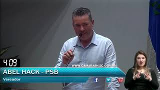 027 - Palavra livre 8, ABEL HACK (AGOSTO, DIA 20 SESSÃO ORDINÁRIA 2018)