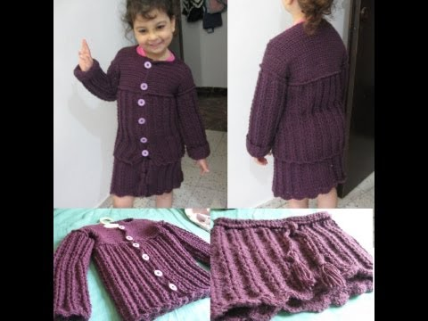 Crochet Childs Sweater and Skirt Set for my Daughter