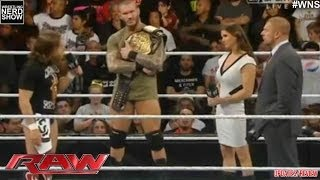 WWE RAW 2/10/14: Daniel Bryan Triple H Stephanie & Randy