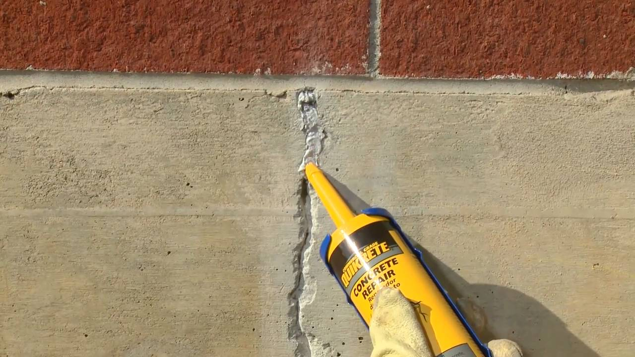 How To Repair Cracks In Vertical Concrete Surfaces With