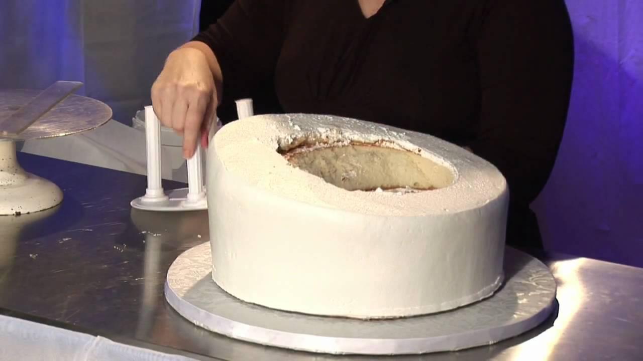 Wedding Cake Design Wedding Cake Measure Insert Support YouTube