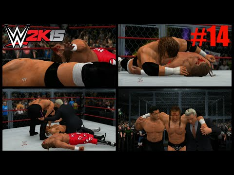 WWE 2K15 2K Showcase Walkthrough - WWE 2K15 2K Showcase - HHH vs HBK Hell In A Cell FINAL MATCH (Best Friends,Bitter Enemies Part 14)
