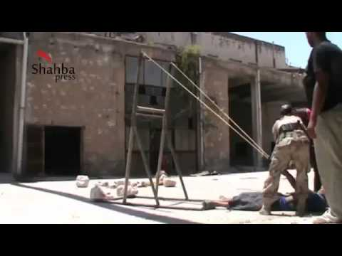 Syria Rebels Use Slingshots Against Dictator as USA and West Block Arms Shipments 7 13 13 Aleppo