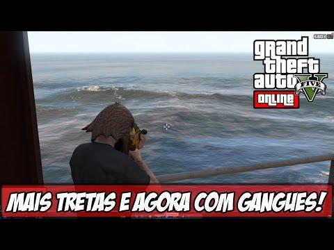 GTA V - Online - Mais Tretas e Caçando Gangues!