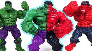 Dinosaurs attack Super Wings! Red Hulk and Hulk are transform into Compound Hulk! - DuDuPopTOY