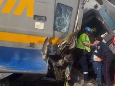 Canada TRAIN CRASH 3 Dead 45 Injured Feb.27,2012 days after ARGENTINA 51 Dd 700 Injured. Prediction.
