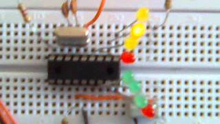 Pic 16f84a Led Sequential Blinking Leds Piscando