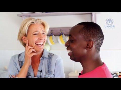 Emma Thompson & her son Tindy Agaba discuss family