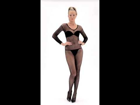Fishnet Body Stocking, Black