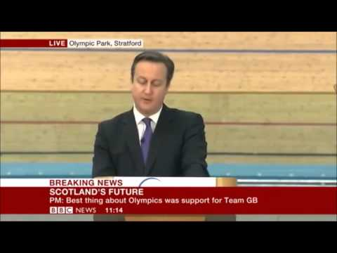 David Cameron appeals to the English, Welsh and N.Irish to fight against Independence