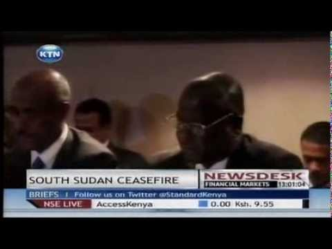 South Sudan government and rebels sign a ceasefire deal
