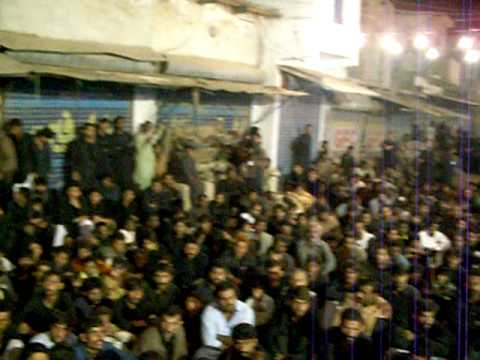 2009 Muharram Matmi Juloos in Matli 3  Sajid Ali Sajdi of Asgharia Organization Pakistan reciting Dua