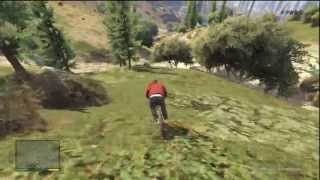 GTA 5 Mountain Bike Vs 3 Star Cops EXTREME MOUNTAIN