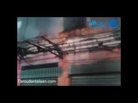 """بالفيديو حريق مهول يأتي على """"السوق الكبير"""" بتارودانت"""