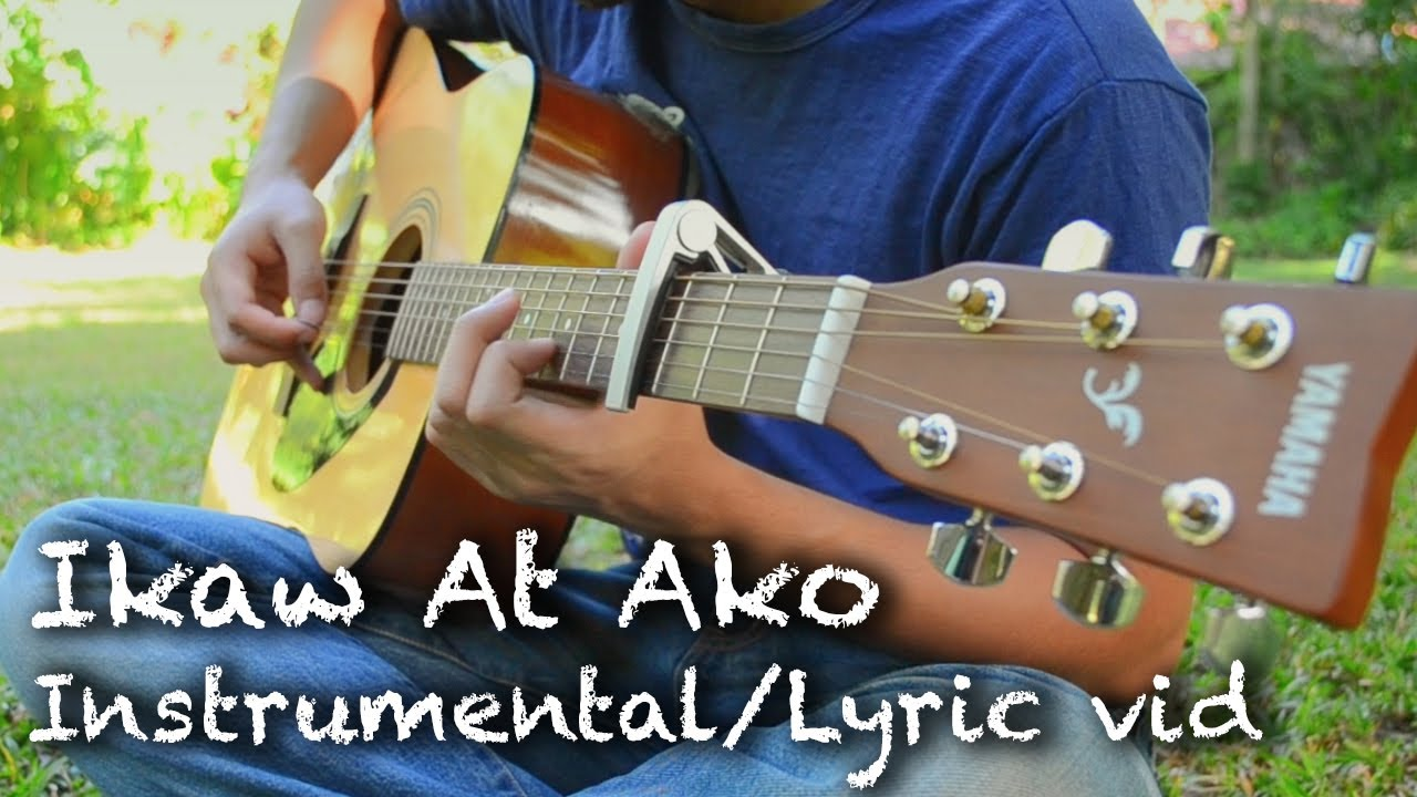 Ikaw At Ako (TJ Monterde) Guitar Cover / Lyric Video (3 guitar jam) - YouTube