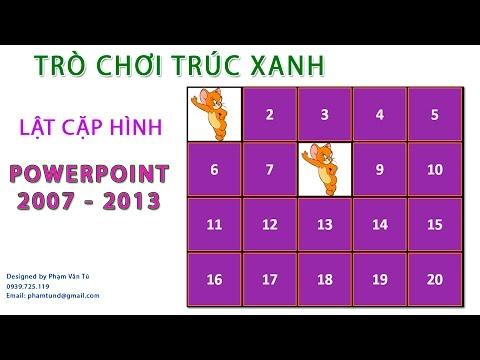Trò chơi Trúc xanh - lật cặp hình giống nhau - Powerpoint 2007-2013