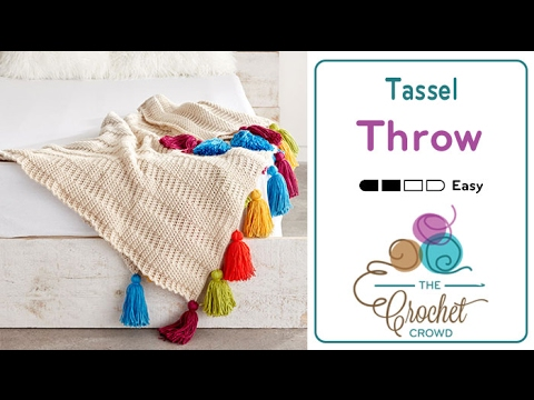 How to Crochet An Afghan: Color Tassel Throw