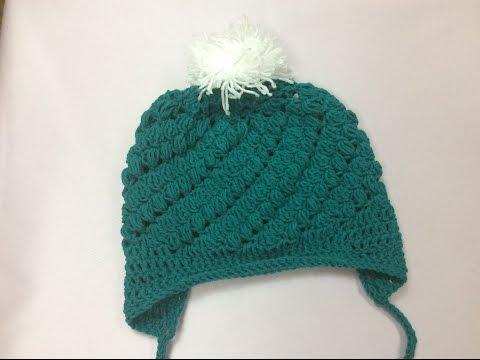 Cách móc mũ xẻ gáy phần 4 Crochet ear flap ( part 4)