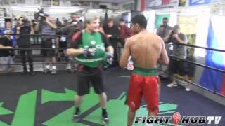 Amir Khan Vs. Danny Garcia: Khan Full Mitt Workout With