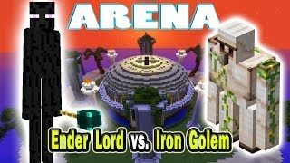 Minecraft Arena Battle Ender Lord vs. Iron Golem