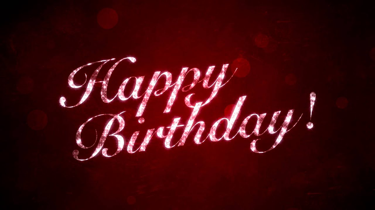 Happy Birthday On Red Hd Motion Graphics Background Loop