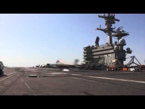 Aircraft are recovered aboard USS George H.W. Bush (CVN 77)