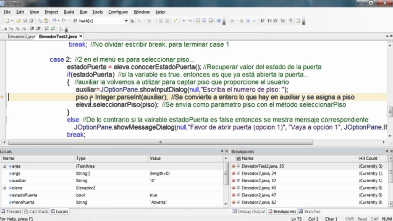 Tutoriales java programar un elevador intermedio youtube for Como programar en java