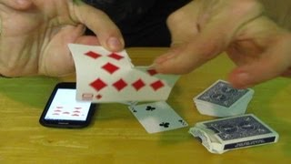Smart Phone Card Trick NO EDITS - MULTIPLE CARDS WOW!