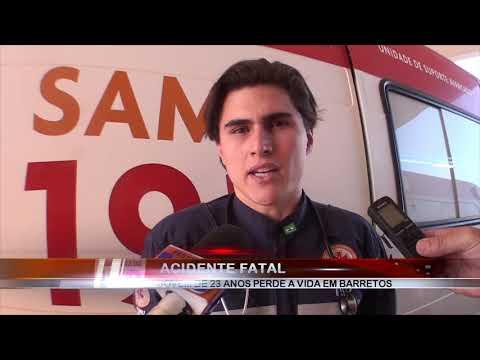 25/06/2019 - Motociclista de 23 anos perde a vida em acidente de trânsito em Barretos