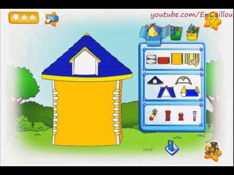 Caillou game to play building new house full episode youtube for House making games