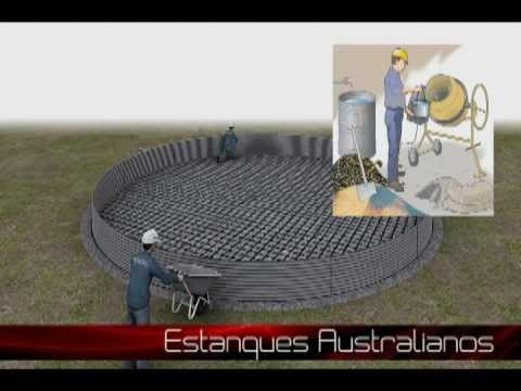 Estanques australianos youtube for Estanque geomembrana