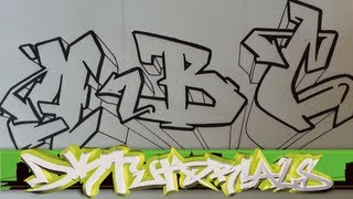 How To Draw Graffiti Wildstyle Graffiti Letters ABC Step