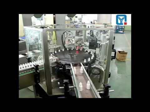 60-100 BPM Double stations E cig oil filling capping machine 10ML E-juice filler system