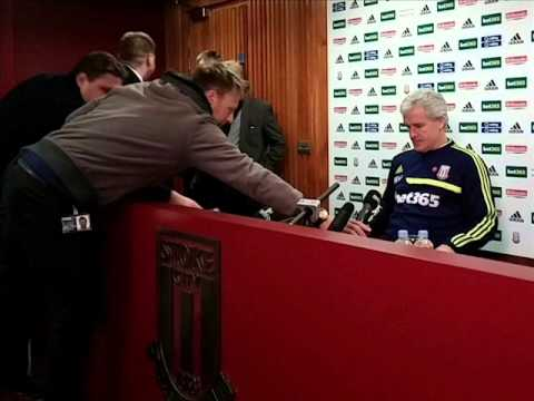 Mark Hughes is questioned on Carl The Van-man last week