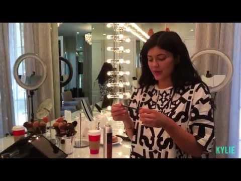 Her Makeup Skills, Kylie Jenner shows people her makeup skills.