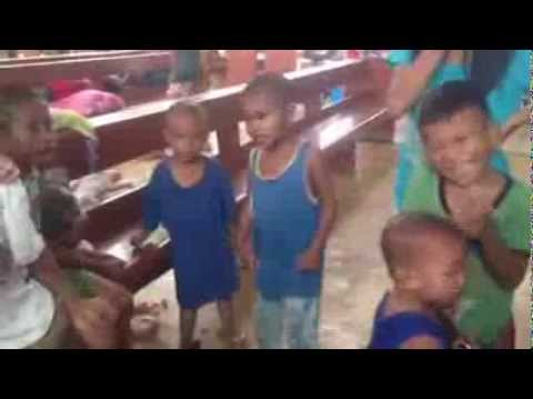 Children's Singalong @ Philippines Evacuation Centre