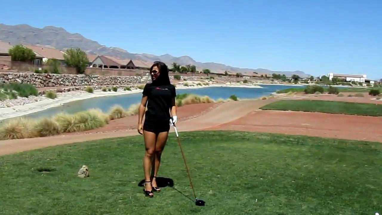 Las Vegas GIRLS teaching Sexy Golf Lessons - brought to