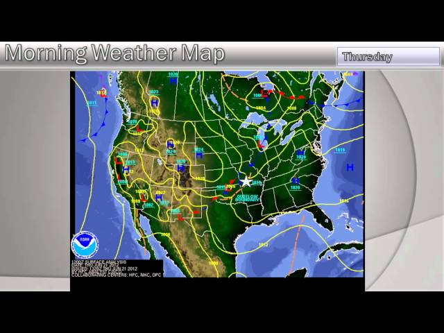 The Weather Report, Thursday, (10am), June 21, 2012